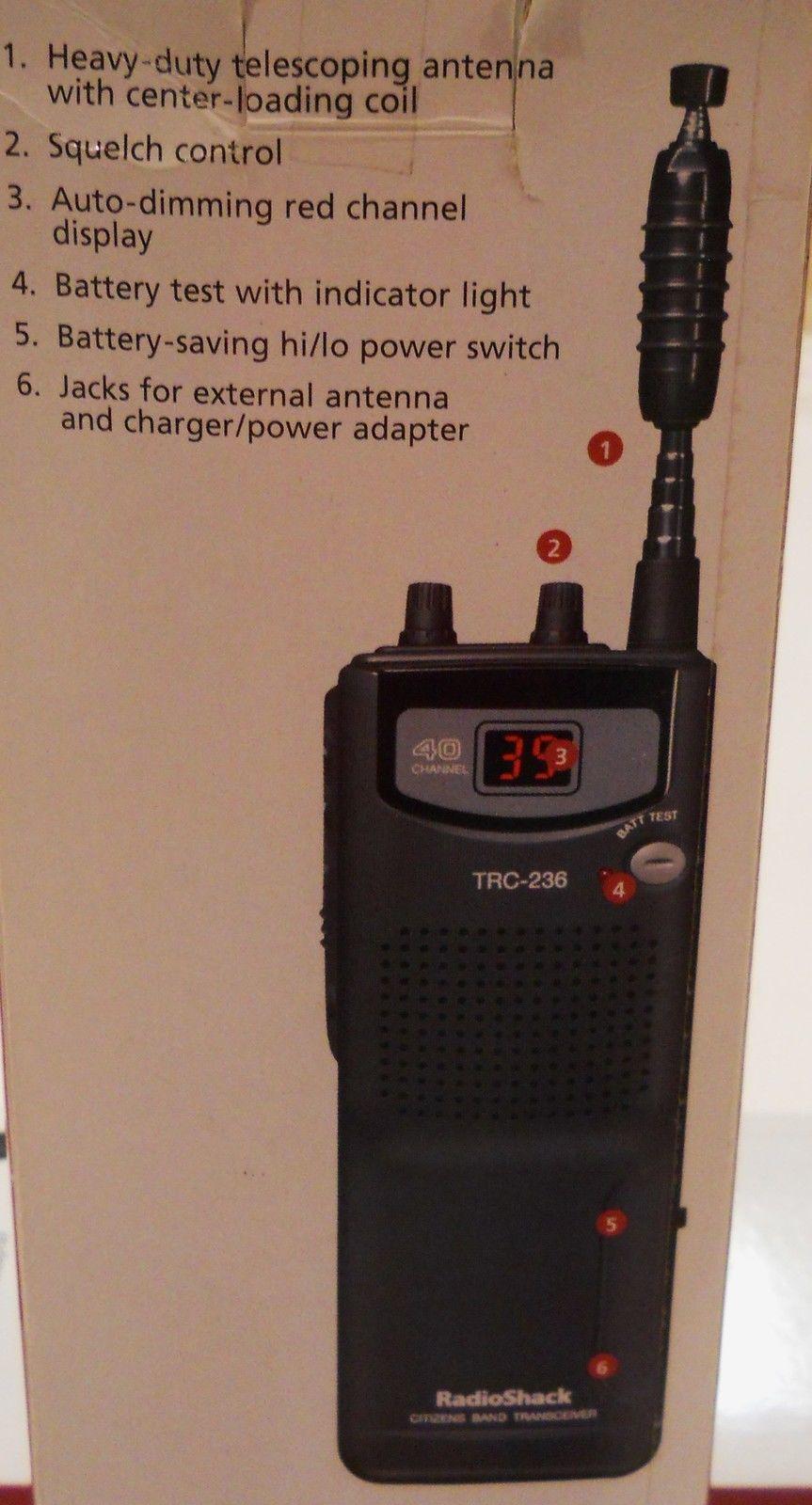 Radiopics Database Cb Radio Radioshack Trc 236 3 Way Switch Shack Kb