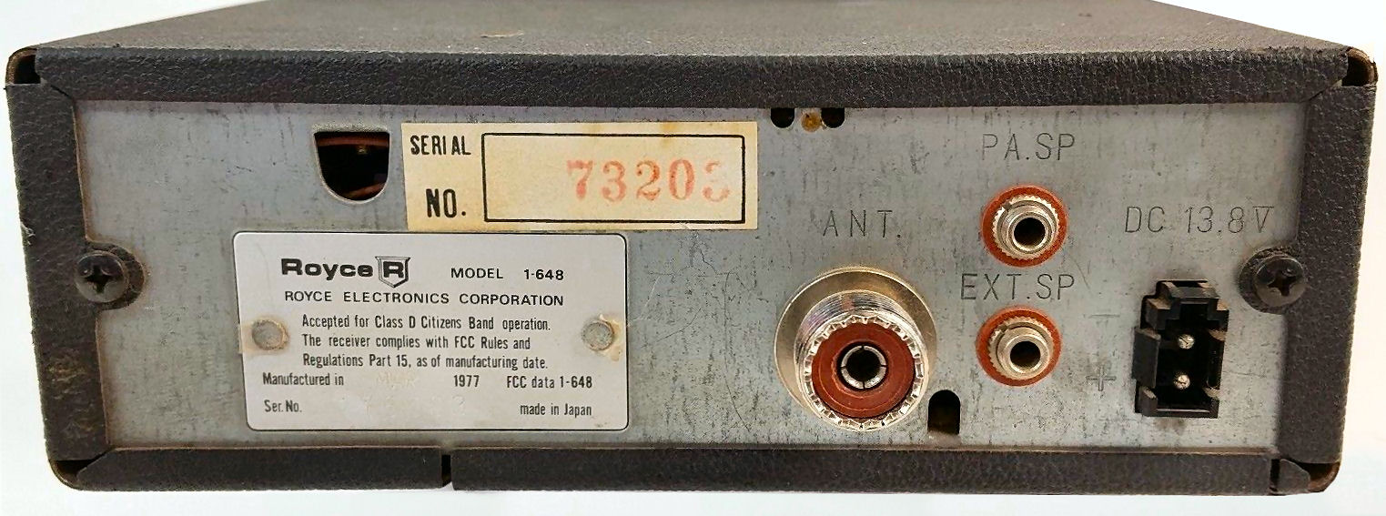 RadioPics Database - CB Radio - Royce 1-648