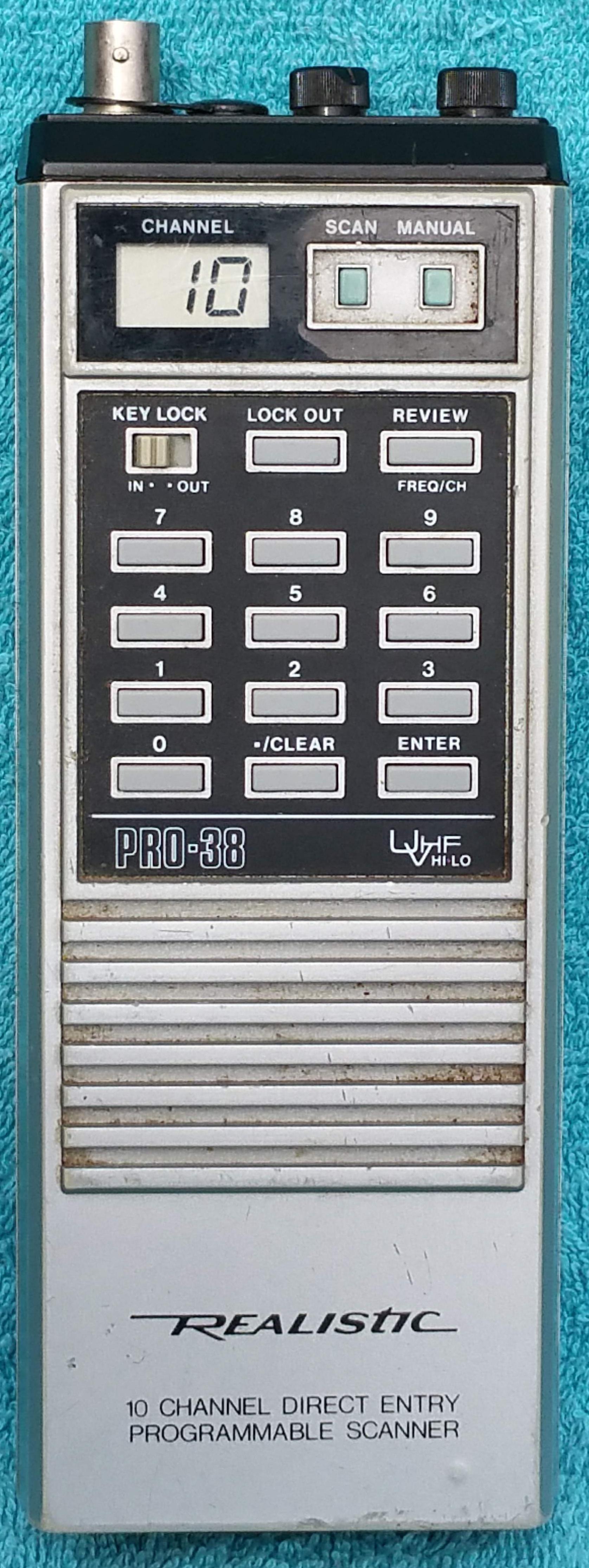 radiopics database radioshack  realistic pro 38  realistic pro-38 service manual